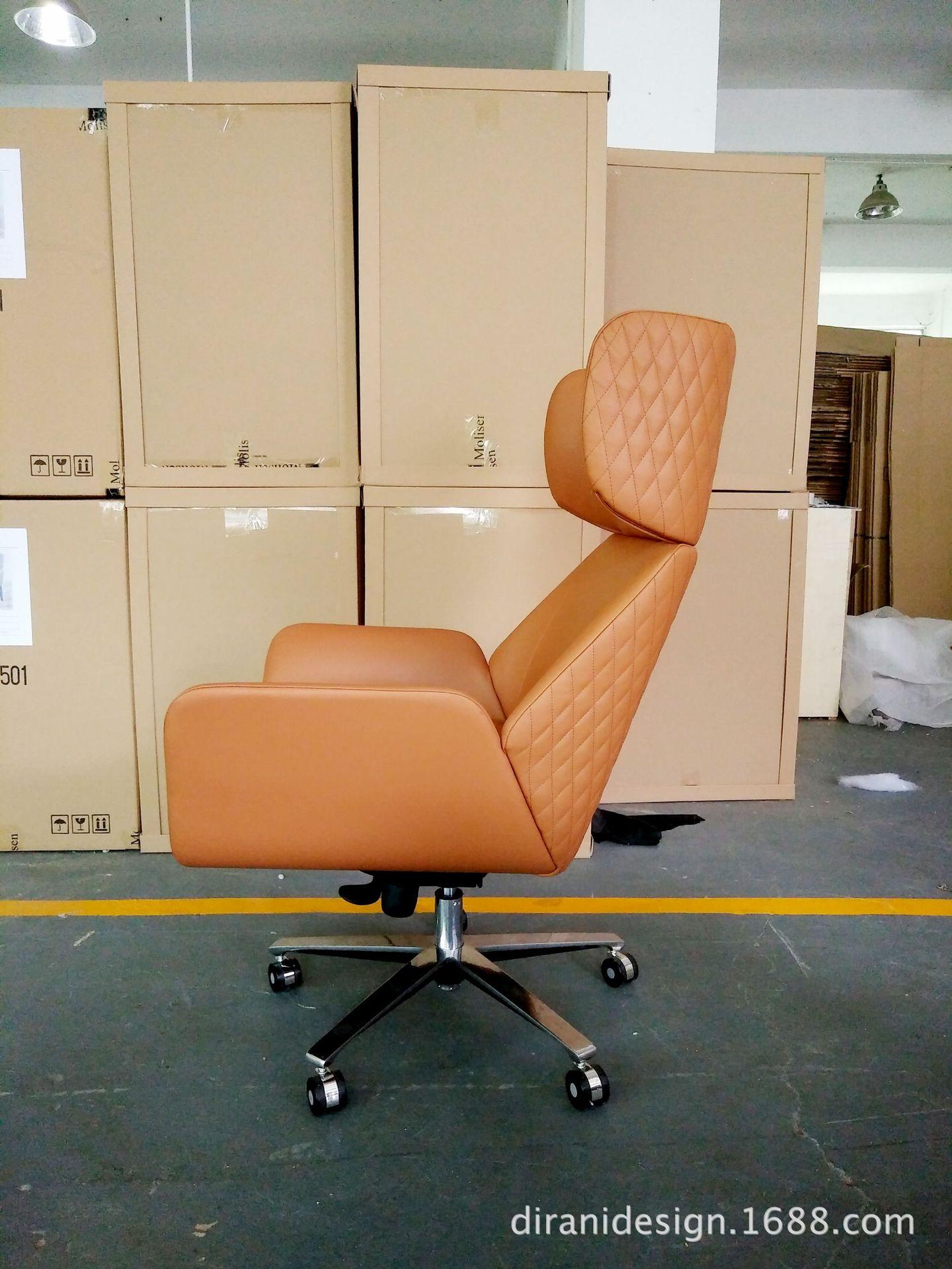 Ghế đơn bằng da kiểu xoay dùng trong văn phòng .