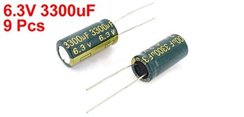 Sourcingmap a14121700ux0478 10 X 20 mm 6.3 V 3300 UF RADIAL Tụ điện phân chì - các loại màu (9 gói)