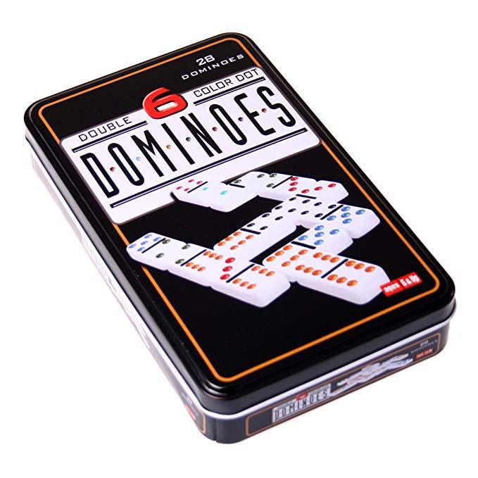 Chơi trò chơi miễn phí Weible 250101 - Domino double 6 inch metal can