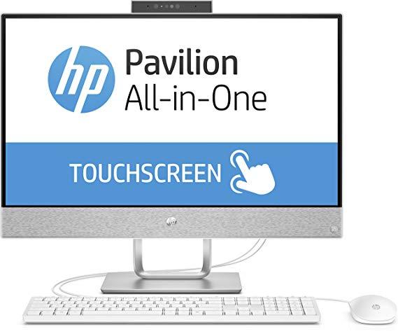 HP Pavilion 24 - x055ng 60,45 cm (màn hình cảm ứng full HD IPS 23,8 inch) Máy tính để bàn tất cả tro