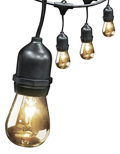 Fett Electric 72041 30 '10 ổ cắm, 15 bóng đèn, bộ chuỗi ngoài trời
