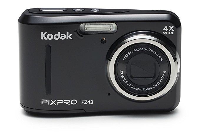 Camera kỹ thuật số KODAK FZ43 - Đen (ống kính 27 MM, 4 x zoom, 16 MP) Màn hình LCD 2.0 inch