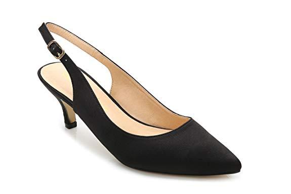 Giày nữ cao gót vải nhung Comeshun