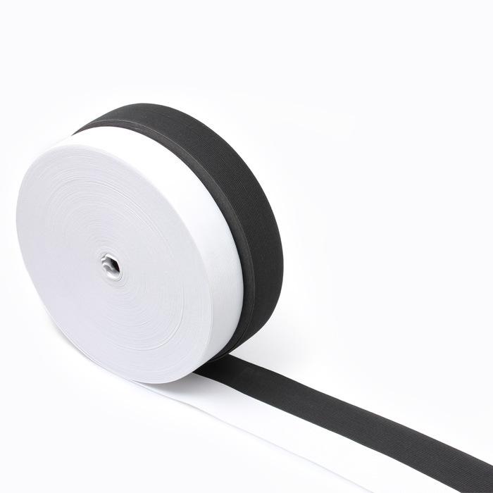 Băng thông đàn hồi đen trắng phẳng mềm cao su bé ban nhạc DIY eo vòng dây đàn hồi với quần eo phụ ki