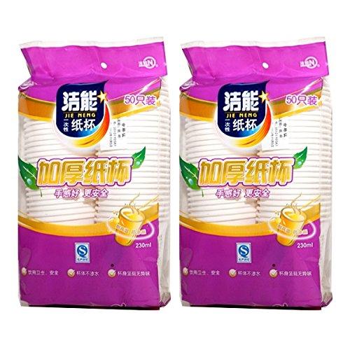 Chén giấy dày 50 ly năng lượng sạch kết hợp với 2 gói
