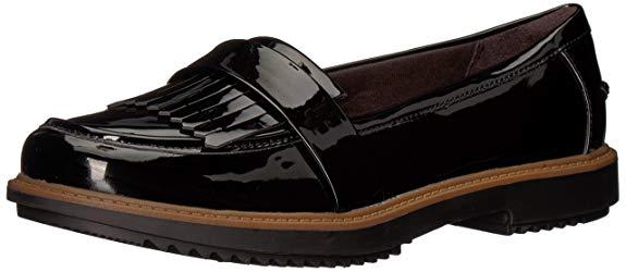 Giày lười nữ đen bóng Clarks Raisie Theresa