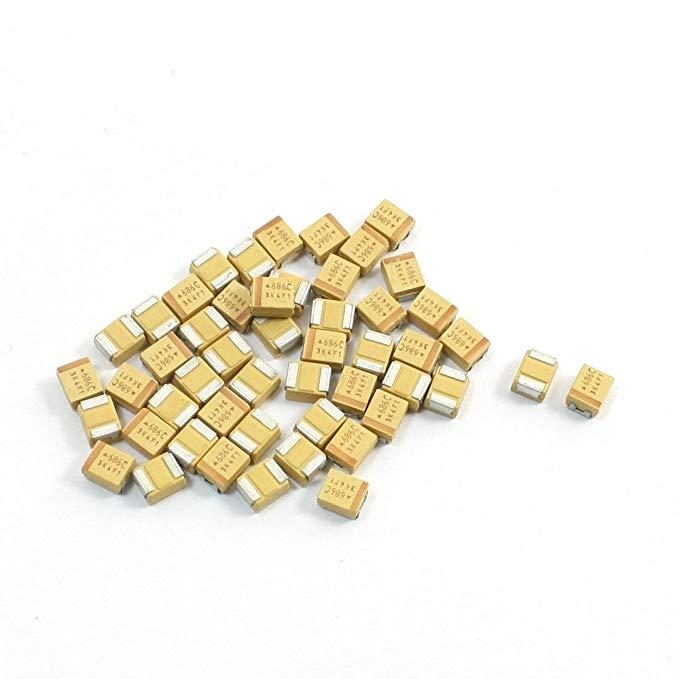 Sourcingmap a14041500ux0224 4 X 3 X 2 mm 68 μf 16 V 3528 B Bề mặt TYPE MOUNT Tantali Chip Tụ - đa mà