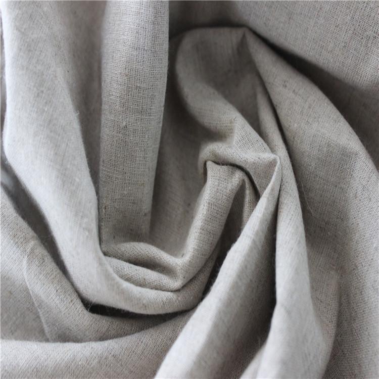 Nhà máy bán buôn Linen cotton 20 s 60x58 vải màu xám cotton và linen mùa xuân và mùa hè quần áo vải