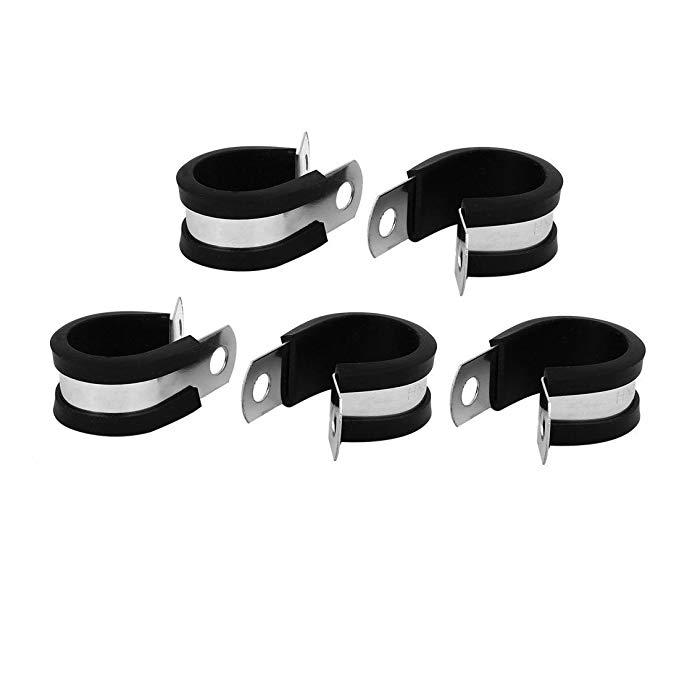 Uxcell 20mm đường kính cao su EPDM lót P clip cáp hose clamp 5