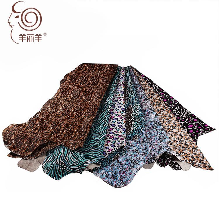[Yang Li Yang] nhà sản xuất cung cấp nhập khẩu thân thiện với môi trường da ngựa vải, toàn bộ in ngự