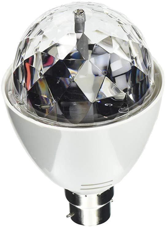 Playlearn - LED Full Color * Tự động xoay Disco DJ Stage Light Bulb với lưỡi lê hoặc vít B 22 E27 Tự