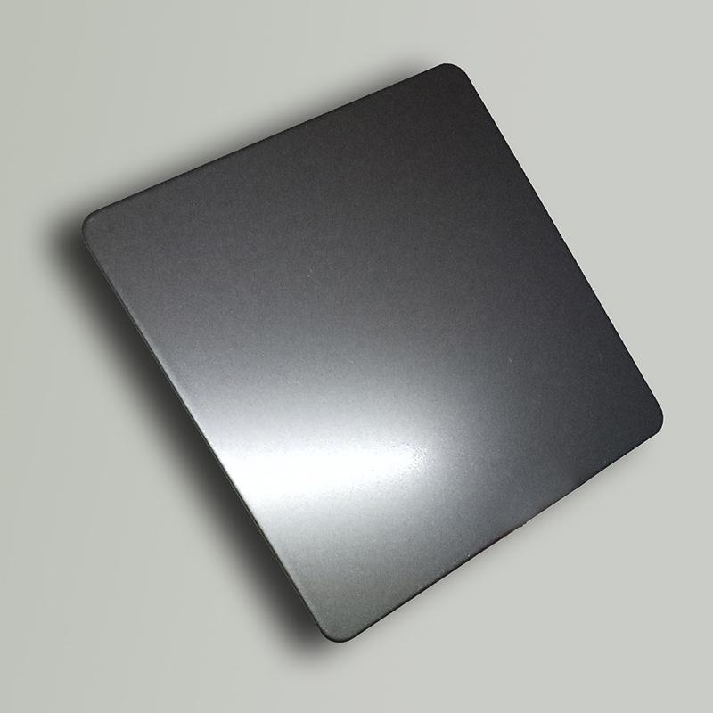 Sandblasted titan đen sáng dầu thép không gỉ tấm trang trí bán buôn Đen phun cát sáng dầu trang trí