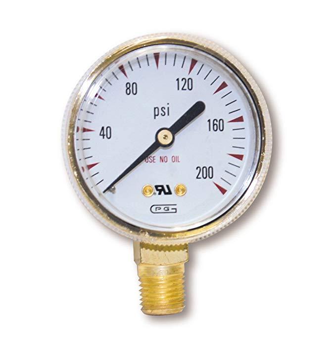 Kích thước của Mỹ FORGE 08034 VICTOR Kiểu đo áp suất thấp để điều chỉnh oxy 0 - 200 p.s.i.