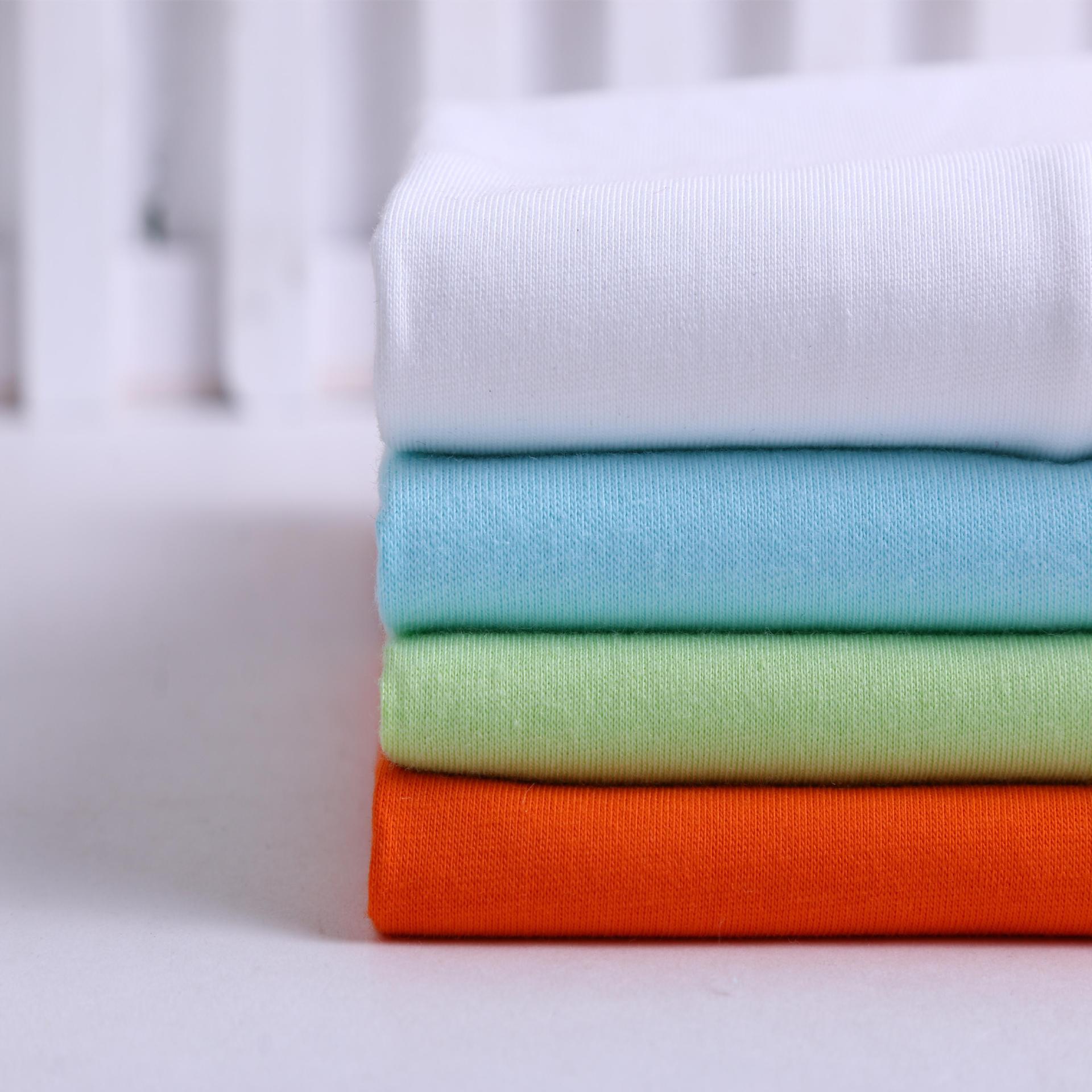 26 cotton jersey cotton jersey vải mùa hè t-shirt vải dệt kim chải kỹ cotton jersey