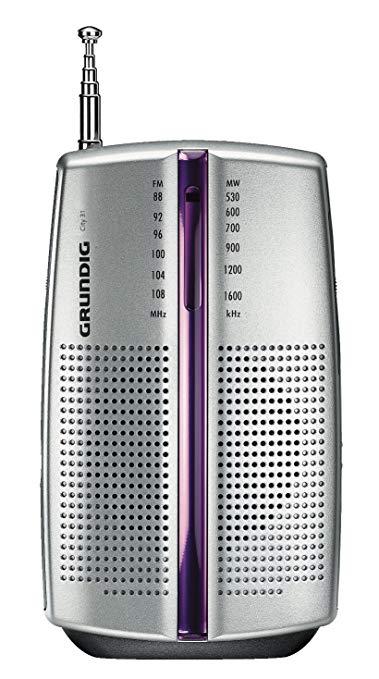 Đài phát thanh chrome di động Grundig City 31 (bộ dò sóng FM / AM)
