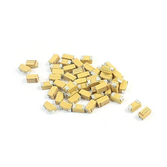 Sourcingmap a14041500ux0195 3,5 x 2 x 2 mm 10 μf 16 V Bề mặt TYPE MOUNT Tantali Chip Tụ - đa màu (mộ