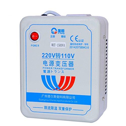Weiheng 1500 Wát 220 v đến 110 v biến áp WHA-1500VA chân điện với quá dòng superheated kiểm soát nhi