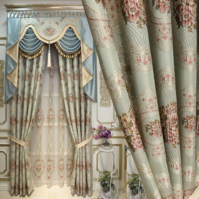 Messer Mengsha thương hiệu rèm jacquard nổi rèm vải phòng ngủ phòng khách hoàn thành vải bóng râm mà