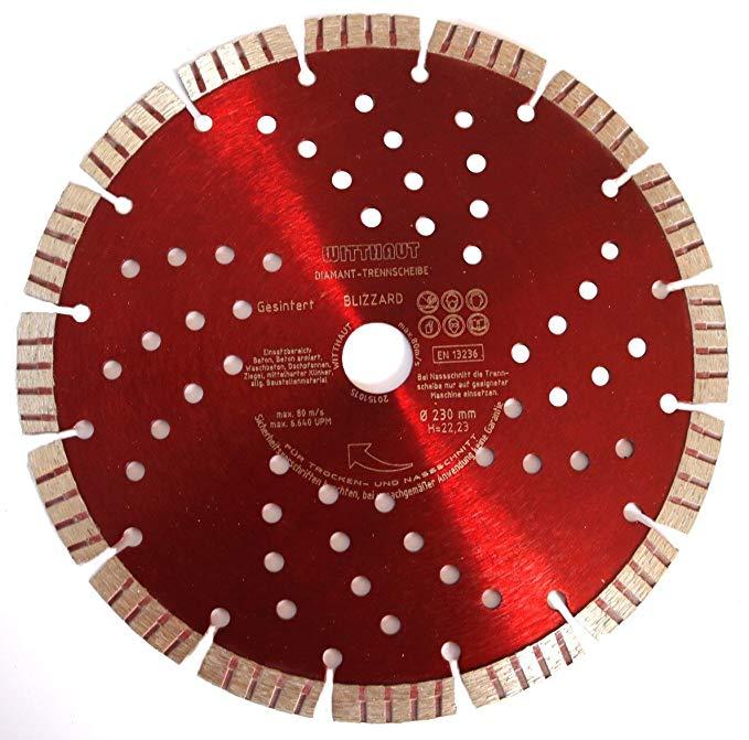 Công cụ kim cương WITTHAUT, mảnh cắt kim cương, đường kính 230 mm, BLIZZARD