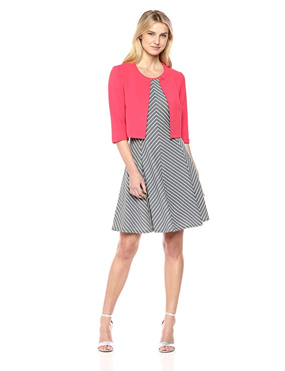 Phụ nữ Robbie Bee 2 PC Slim Flare Jacket Dress