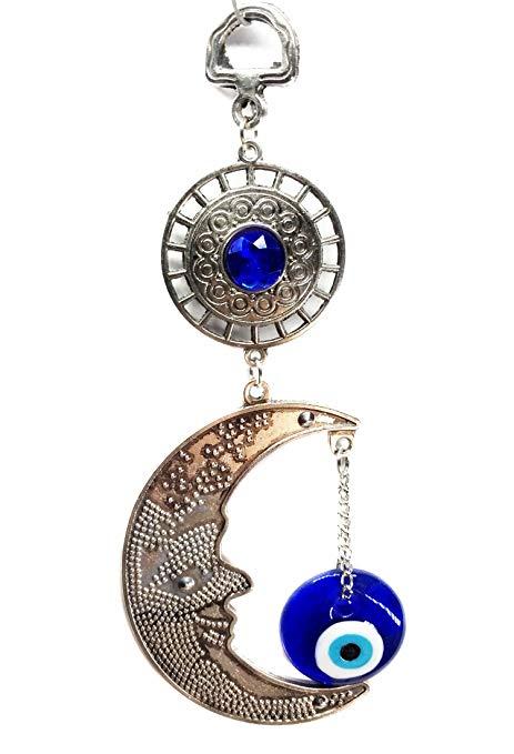Mắt ác màu xanh với bảo vệ hệ thống treo mặt trăng (với Betterdecor Pounch) -057