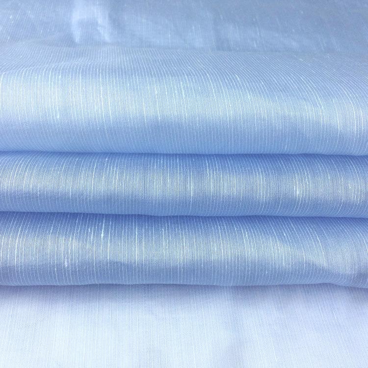 Tại chỗ Trực Tiếp Linen Tencel Vải Mùa Xuân và Mùa Hè Dệt Blend Vải Linen Phụ Nữ Quần Áo Vải Bán Buô