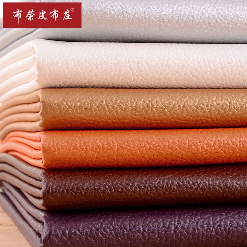 Tại chỗ bán buôn PU vải thiều lớn vải da giường túi mềm nền tường trang trí da sofa da nhân tạo