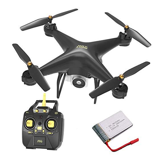 HOLY ĐÁ Độ Bền Mô Hình HS20 HD Trên Không Drone Lớn Điều Khiển Từ Xa Máy Bay Quadcopter Toy (Black)