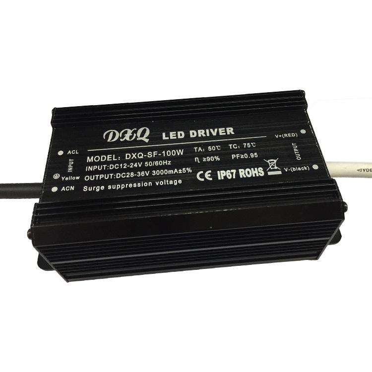 DC12-24V boost 100 Wát không thấm nước LED power tường máy giặt ánh sáng dưới đất đường hầm ánh sáng