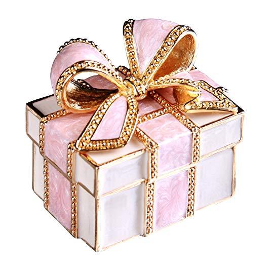 Hộp quà tặng hộp đồ trang sức PIEARTH (Pink Ribbon) EX310-1