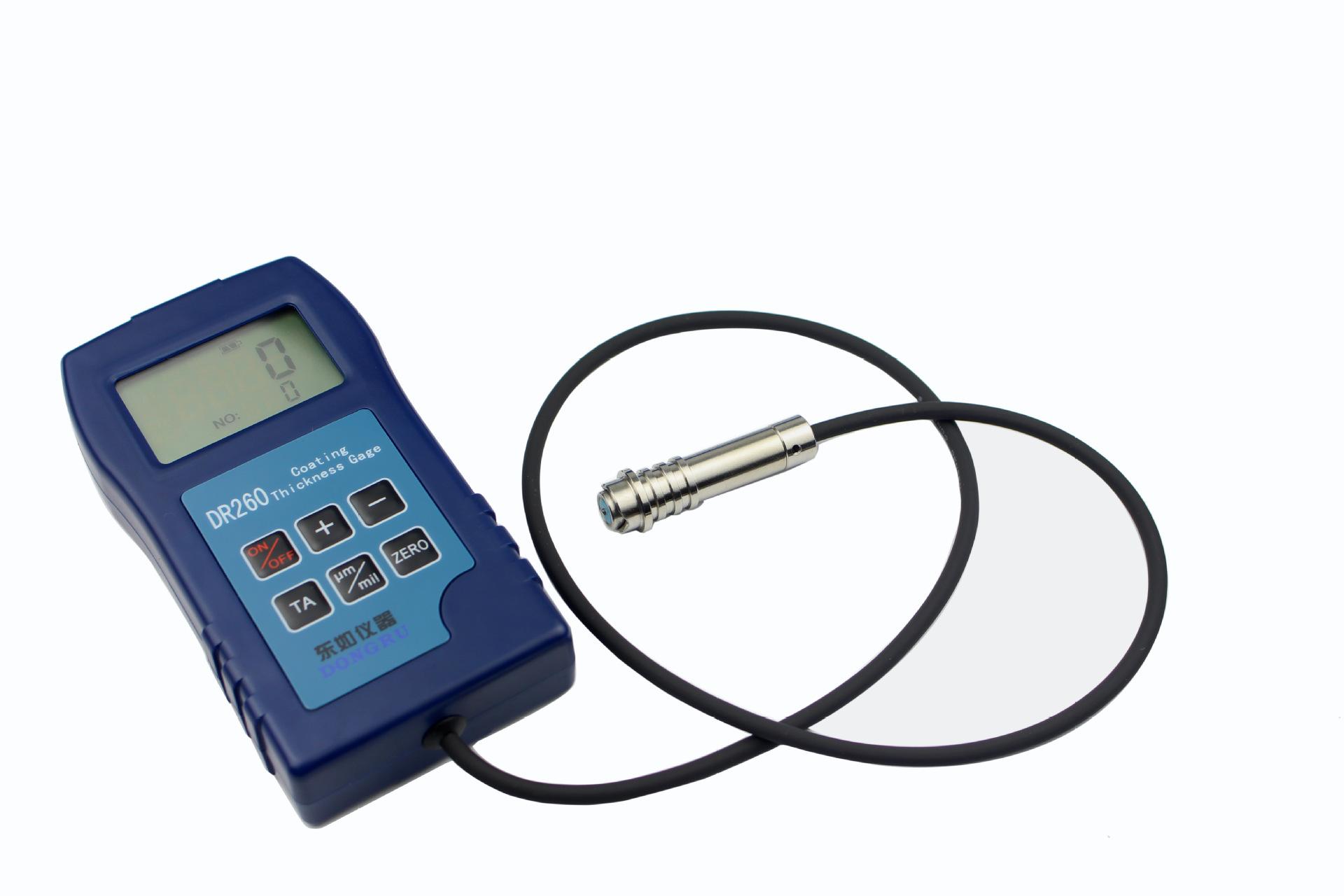 Thép dầm sơn phim kiểm tra kết cấu thép sơn phim đo độ dày DR260 độ dày lớp phủ máy đo mạ kẽm chromi