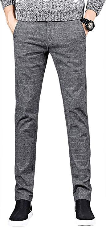 BOKOLO Berklong quần âu nam mùa xuân và mùa thu mùa sanding straight straight slim feet kẻ sọc quần