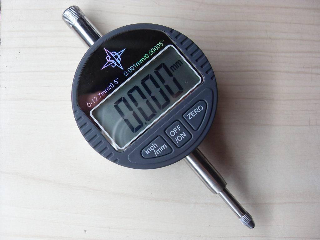 Thước đo quay số sản xuất, micromet, hiển thị kỹ thuật số, chỉ báo điện tử, 0-12.7MM, 0-25.4MM