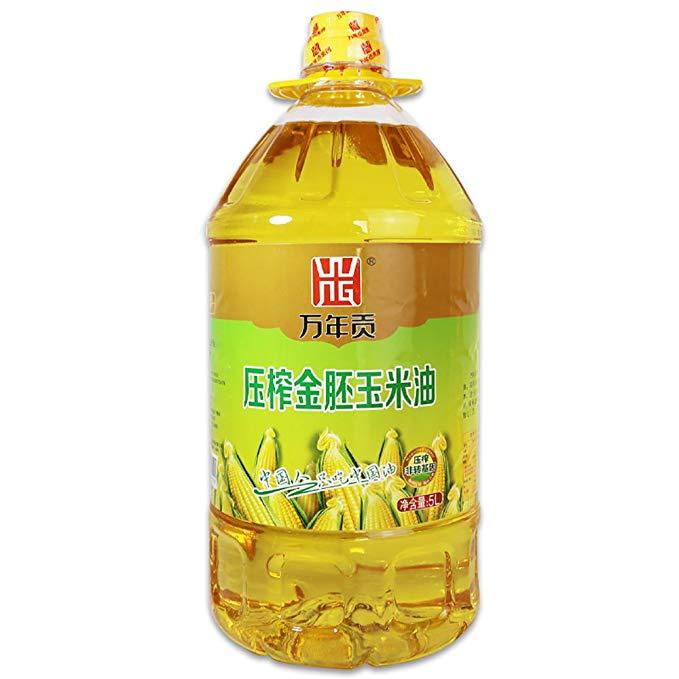 Wannian Gong ép vàng phôi ngô dầu 5L ăn được dầu không biến đổi gen vật lý ép dầu thực bì bao bì
