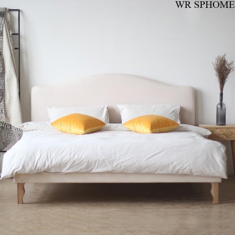 Làng cổ điển hiện đại SPhome Bắc Mỹ mới gỗ thật đấy 1.51.8 mét đôi chân giường mềm lắm nèĐề nghị giá