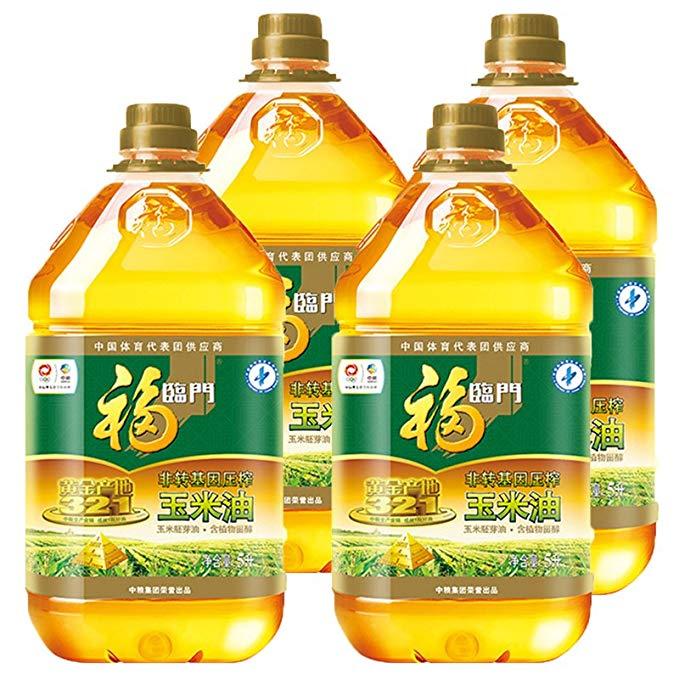 Fulinmen Non-GMO ép vàng sản xuất dầu ngô ngô mầm dầu giàu trong phytosterols (5L * 4 FCL)