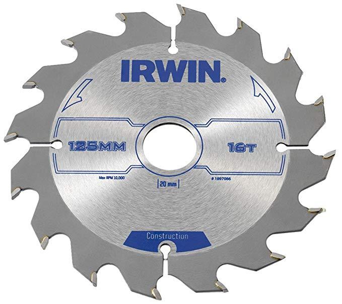 IRWIN IRW1897086 125 x 20mm Lưỡi cưa tròn 16 răng với máy mài răng ATB