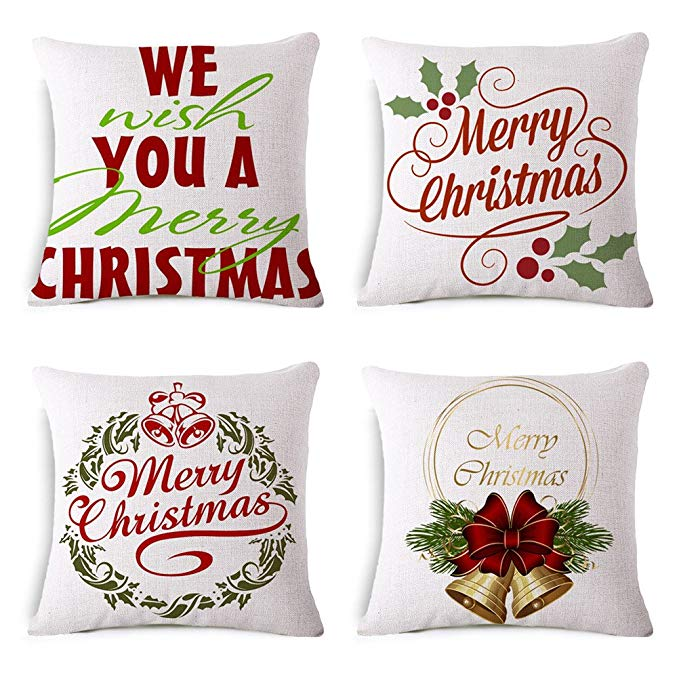 Giáng sinh gối 21.59 cmx27.94 cm áo gối cho Giáng Sinh trang trí pillowcase đối với trang chủ sofa đ