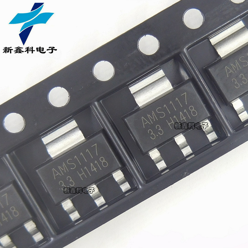 AMS1117-3.3 1117-3.3 SOT223 Ba thiết bị đầu cuối điều chỉnh IC tuyến tính LDO tích hợp quy định cung