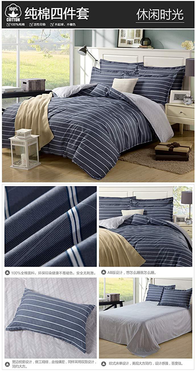 Sufeng Trang chủ Dệt may Bông Bốn mảnh Bộ đồ giường Twill Bông đôi Quilt Sheets Bốn mảnh Đặt 1.5m1.8