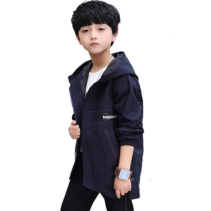 Áo khoác bé trai Hàn Quốc đính ruy băng JIARUILIN