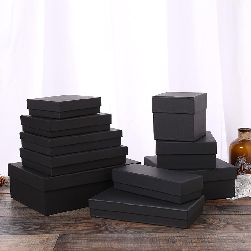 2018 vụ nổ thế giới bìa đen kraft hộp giấy đồ lót vớ mỹ phẩm hộp quà tặng bán buôn