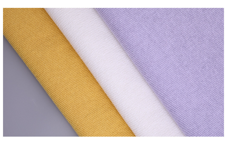 Hiện trường thu cung cấp áo tay ngắn vải bông vải đan len thô 10S Kim