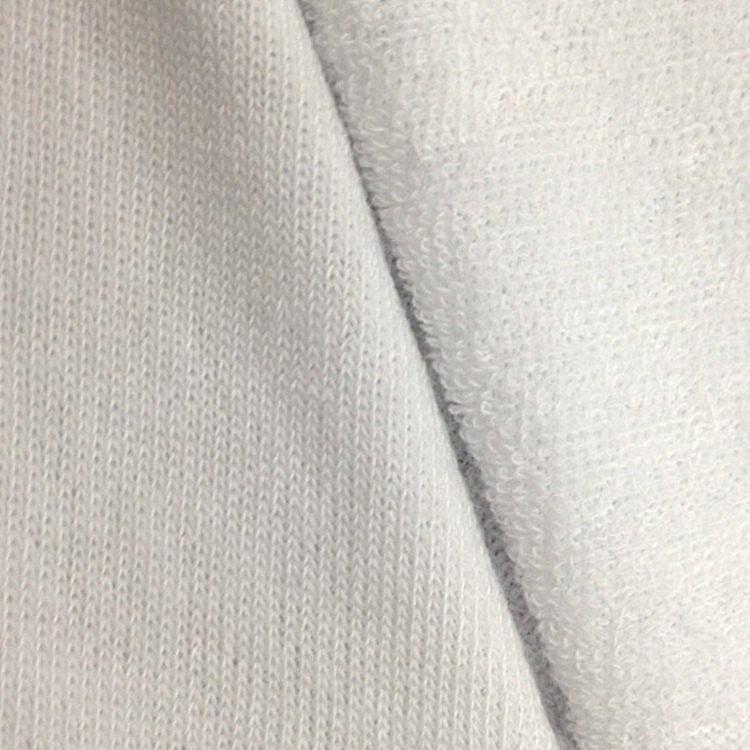 Cổ trắng terry vải đen staple sợi terry vải staple sợi vải duy nhất vải