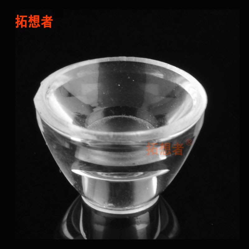 LED công suất cao lõm cát ống kính đường kính 15 MÉT ống kính quang học acrylic ống kính đèn chất lư