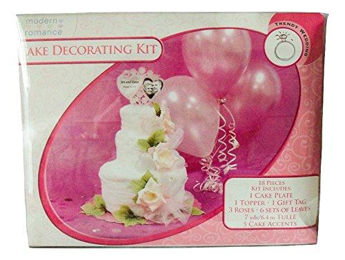 Hiện đại lãng mạn khăn wedding cake decoration 18 piece bộ
