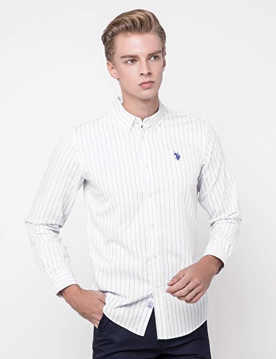 Mỹ polo mới dài tay áo sơ mi nam kinh doanh trang phục bông t- shirt thường mỏng quần áo của nam giớ