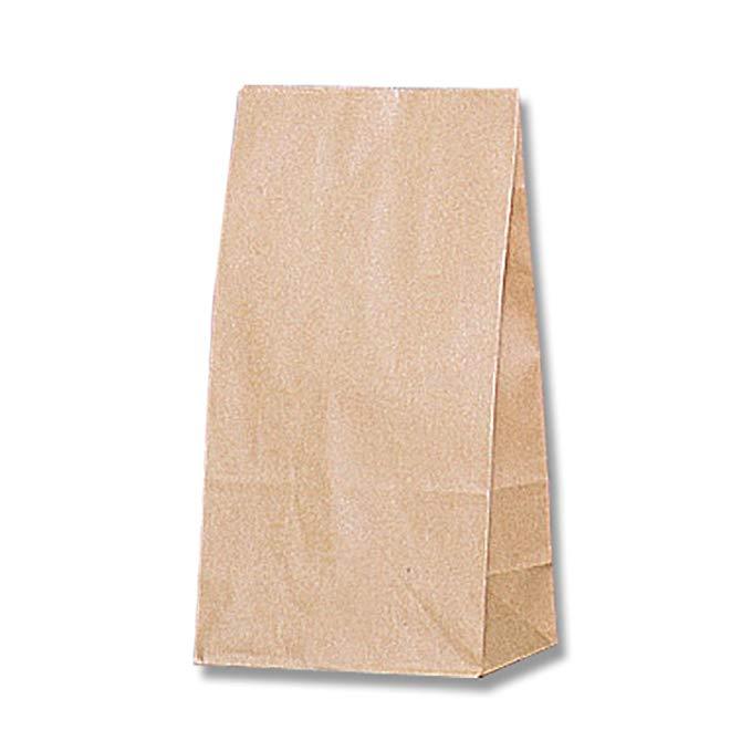 Túi giấy HEIKO đáy vuông số 3 màu đồng bằng 100 gói 004010300