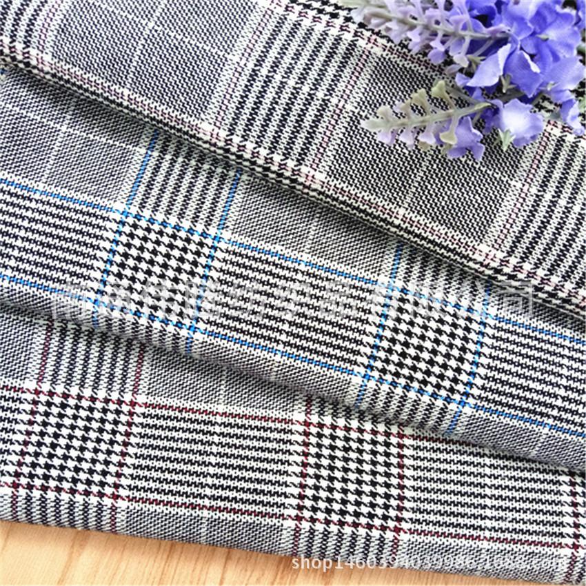 Mới mùa xuân mới kệ, áo sơ mi nhuộm bông pha trộn bông polyester, vải may mặc, nghìn lưới chim, off-