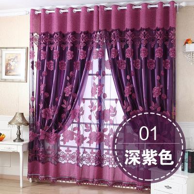 Phòng khách bố công vải màn một ban công hai công chúa, phong công chúa ngủ rèm thành phẩm